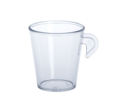 Espresso Tasse 0, 1l SAN aus Kunststoff wiederverwendbar