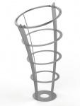Rossignol Elice Abfallkorb mit Standfuss 65L aus rostfreiem feuerverzinktem Stahl