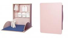 Klappbarer Wickeltisch pro aus hochwertigem Holz mit HPL-Beschichtung