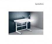 Pressalit weißer Wickeltisch mit sanitären Artikeln 800 x 1800 mm mit Motor