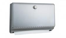 BOBRICK B-2621 Papierhandtuchspender aus Edelstahl C-Fold oder Multifold