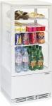 Casselin Kühlvitrine 78l weiß oder schwarz 160W - Innenbeleuchtung - Umluftkühlung