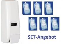 Set Angebot Spender SlimLine 400 mit 6 Packungen Cosmetic Seife