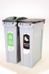 RUBBERMAID Slim Jim® Recycling-Starterpaket für zwei Abfallarten
