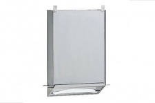 Bobrick B-318 Edelstahl Papierhandtuchspender für Einbau hinter einen Spiegel