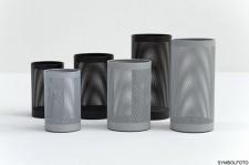 G-Line Pro FORATO Papierkörbe, silber lackierter Stahl 1.4016, 2 Größen + 4 Farben