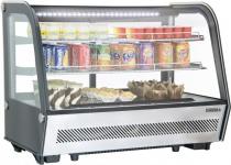 Casselin Kühlregal 160l mit Doppelverglasung und LED-Beleuchtung - zwei Lüfter