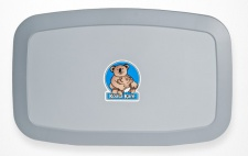 Horizontale Koala Wickelstation KB-200-01 Horizontal Grau MICROBAN® Hygieneschutz