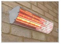 Heatlight silber Infrarot Wand Heizstrahler 1500 W für den Innen- und Außenbereich