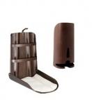 Set Holzwickeltisch Nathi Klappbar + Windelspender + 2 Auflage - Design Walnuss