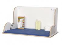 Wandwickeltisch im Querformat aus hochwertigem Holz erhältlich in Weiß oder Buche