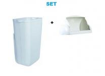 Set - Marplast Mülleimer 23L Weiss MP 742 - mit Klappdeckel für Damenhygiene