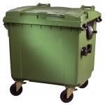Container 1100 Liter flachem Deckel