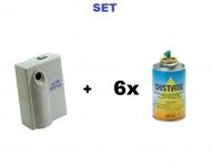 SET Automatischer Spender Air Control Premium + 6x Insektizid Distair 250ml