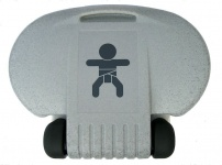 Wickeltisch Kompakt mit Gasdruckfederung - Kunststoff Design - Horizontal