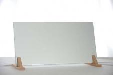 Infrarot Flachheizung 200W in RAL Farbtönen ohne Aufpreis incl. Wandhalterung und Holzfüßen Natur 7°