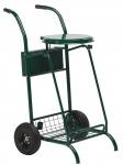 Rossignol mobiler Müllsammler 110L aus pulverbeschichtetem Stahl mit bereiften Rädern