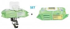 SET Wandhalter für Tissues Desinfektionstücher + Bacillol Tissues Desinfektionstücher