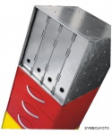 Graepel High Tech hochwertiger Aktenhalter aus Aluminium für QBO Würfel