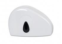 PlastiQline Mini Groß Rollenhalter mit Rest Rolle aus weißem Kunststoff zur Wandmontage