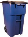 RUBBERMAID BRUTE® Rollcontainer 189, 3 l Blau oder Grün mit Deckel aus Polyethylen
