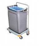 Splast Einzel-Müllentsorgungswagen 120l mit Abdeckung - der Deckel ist optional