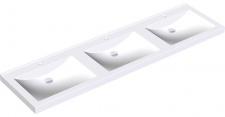 Franke Reihenwaschtisch ANMW430 aus Miranit zur Wandmontage mit Schrauben