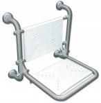 Fumagalli ausklappbarer Duschstuhl aus Edelstahl Aisi304 - max. Tragkraft 180 kg