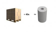Palette - 40x Karton - Passend für Hagleitner Luna System - Zellstoff 2 lagig