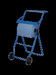 Metzger blauer Putzrollenhalter mit Bodenständer für Putzrollen bis 40 cm Breite