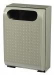 Rossignol Urbanet Abfallbehälter 30 Liter zur Wandmontage aus rostfreiem Stahl