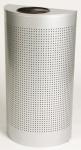 RUBBERMAID Silhouette Abfallbehälter halbrund mit Kunststoffeinsatz 45 l Silber
