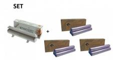 SET Effizienter Wrapmaster Spender WM1000 und + 3 Pack. Frischhaltefolie 1000