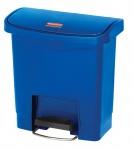 RUBBERMAID Slim Jim® Kunststoff-Tretabfallbehälter mit Pedal an der Breitseite 15 L