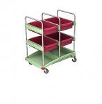 Splast Reinigungssystem mit Plastikbasis und 4 Ablagefächern - grün, rosa