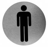 Mediclinics Piktogramm rund Edelstahl zur Wandmontage Abbildung Mann