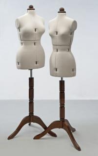 verstellbare Schneiderpuppe mit Holzständer - Vorschau 2