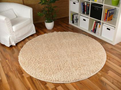 shaggy teppich rund creme g nstig kaufen bei yatego. Black Bedroom Furniture Sets. Home Design Ideas