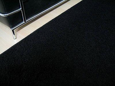 teppich hochflor shaggy prestige schwarz in 24 gr en. Black Bedroom Furniture Sets. Home Design Ideas