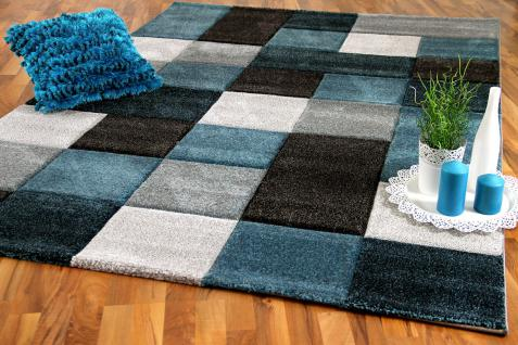 teppich grau t rkis online bestellen bei yatego. Black Bedroom Furniture Sets. Home Design Ideas