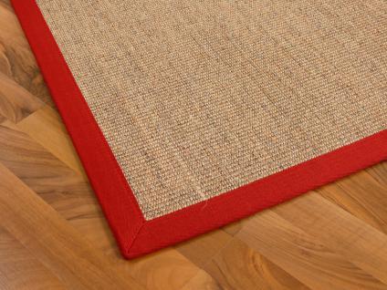 sisal astra natur teppich nuss bord re rot kaufen bei teppichversand24. Black Bedroom Furniture Sets. Home Design Ideas