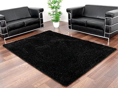 hochflor shaggy teppich luxus feeling schwarz abverkauf kaufen bei teppichversand24. Black Bedroom Furniture Sets. Home Design Ideas
