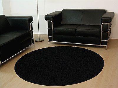 teppich schwarz rund online bestellen bei yatego. Black Bedroom Furniture Sets. Home Design Ideas