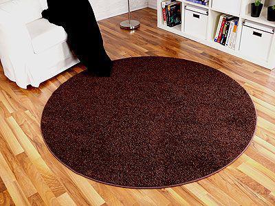 Teppich dunkelbraun  Dunkelbraun Hochflor Teppich günstig online kaufen - Yatego