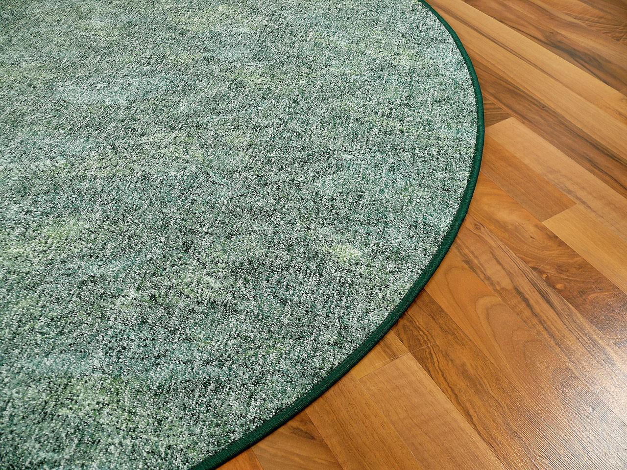 schlingen teppich memory gr n meliert rund in 7 gr en kaufen bei teppichversand24. Black Bedroom Furniture Sets. Home Design Ideas
