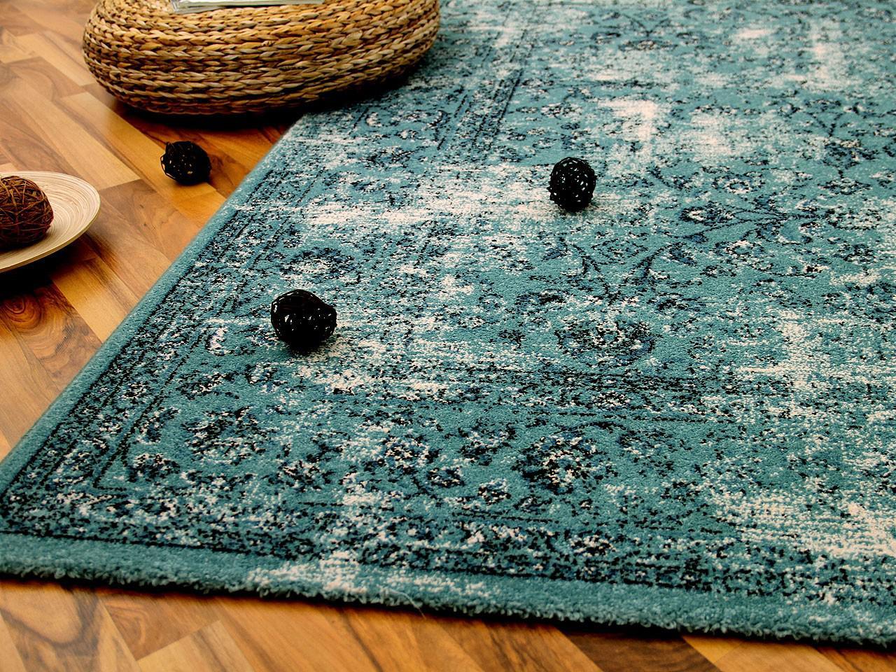 designer teppich arizona vintage orient t rkis kaufen bei teppichversand24. Black Bedroom Furniture Sets. Home Design Ideas