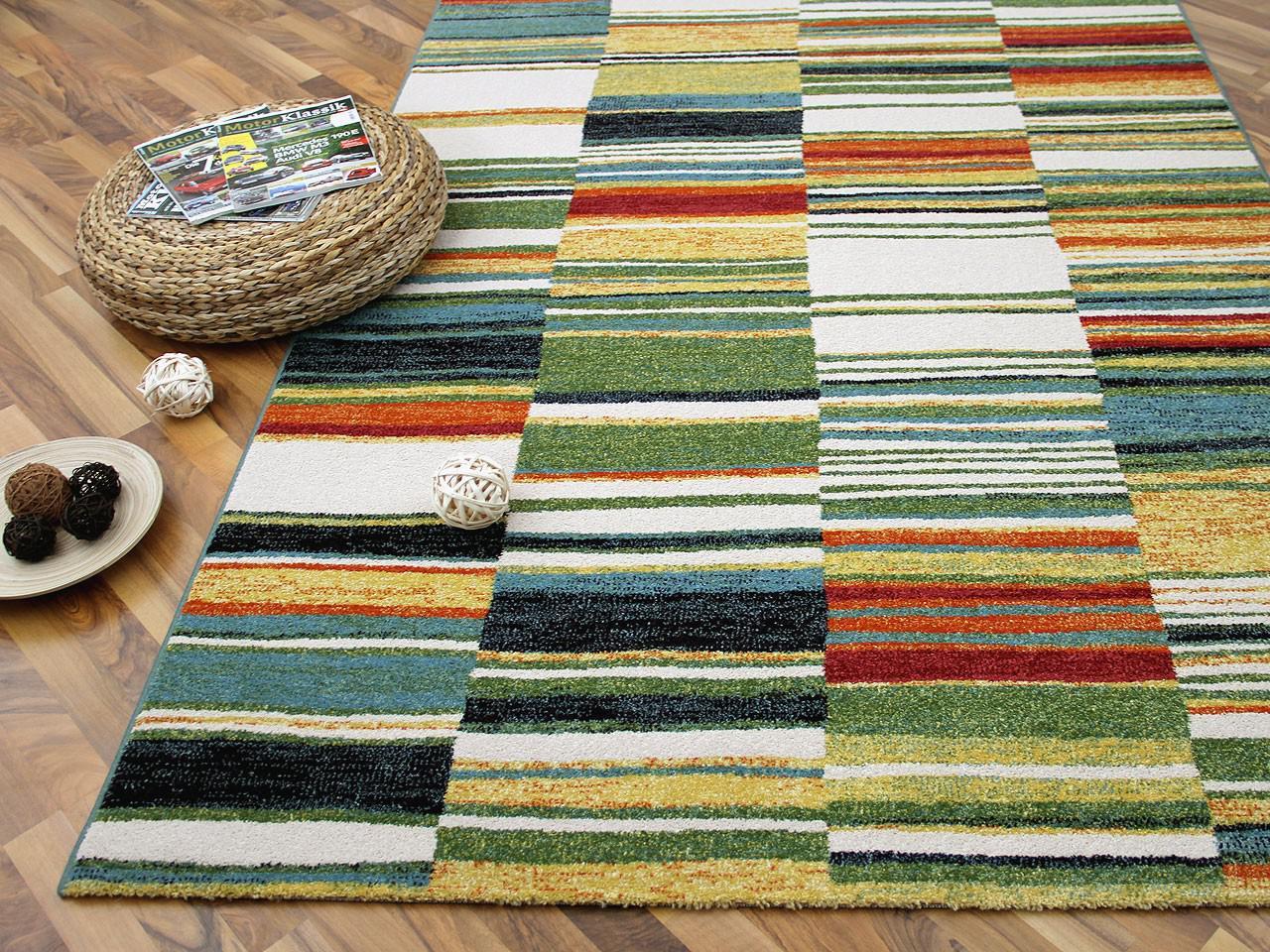 Designer teppich arizona streifen bunt   abverkauf   kaufen bei ...