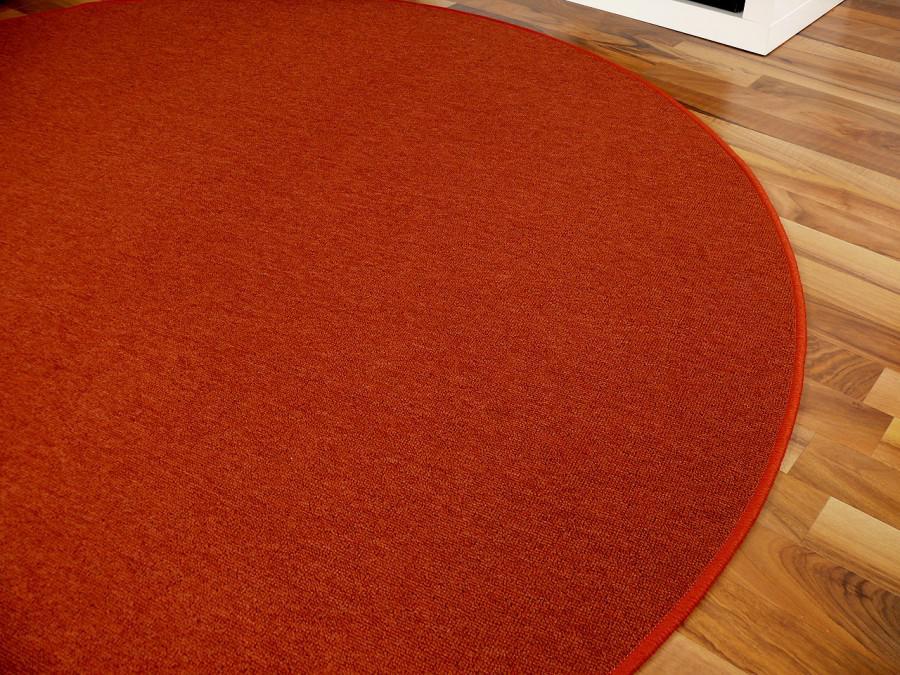 feinschlingen velour teppich strong terrakotta rund in 7. Black Bedroom Furniture Sets. Home Design Ideas