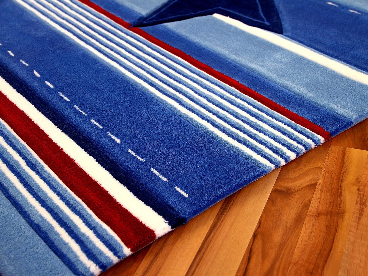 Kinderteppich blau stern  Lifestyle Kinderteppich Blau Stern - Kaufen bei teppichversand24
