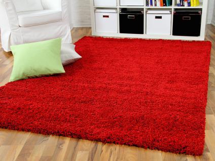 langflor teppich shaggy rot g nstig online kaufen yatego. Black Bedroom Furniture Sets. Home Design Ideas